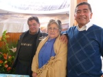 Pastor Victor Rodriguez on right with his mother and brother, 3 founders of the Church