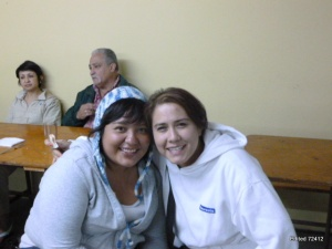 Lisania Sustaida (with friend Alicia on right) will complete seminary studies in Puerto Rico in June