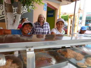 The tacos are delicious and the service delightful at this stand on the plaza in our town of Soledad de Graciano Sancez