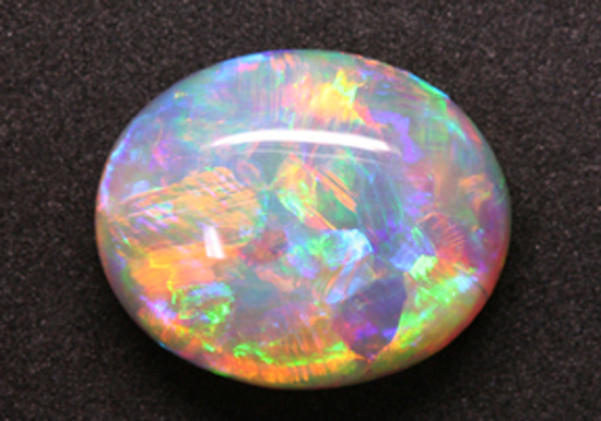"""A """"fire"""" opal from Magdalena, State of Jalisco, Mexico"""