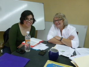Karla Ramirez, Kate's teacher, helped with Spanish translation of her lectures