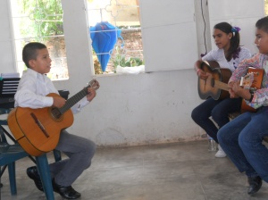 These Apoderado musicians have been playing for less than a year thanks to Margarita, church music  teacher