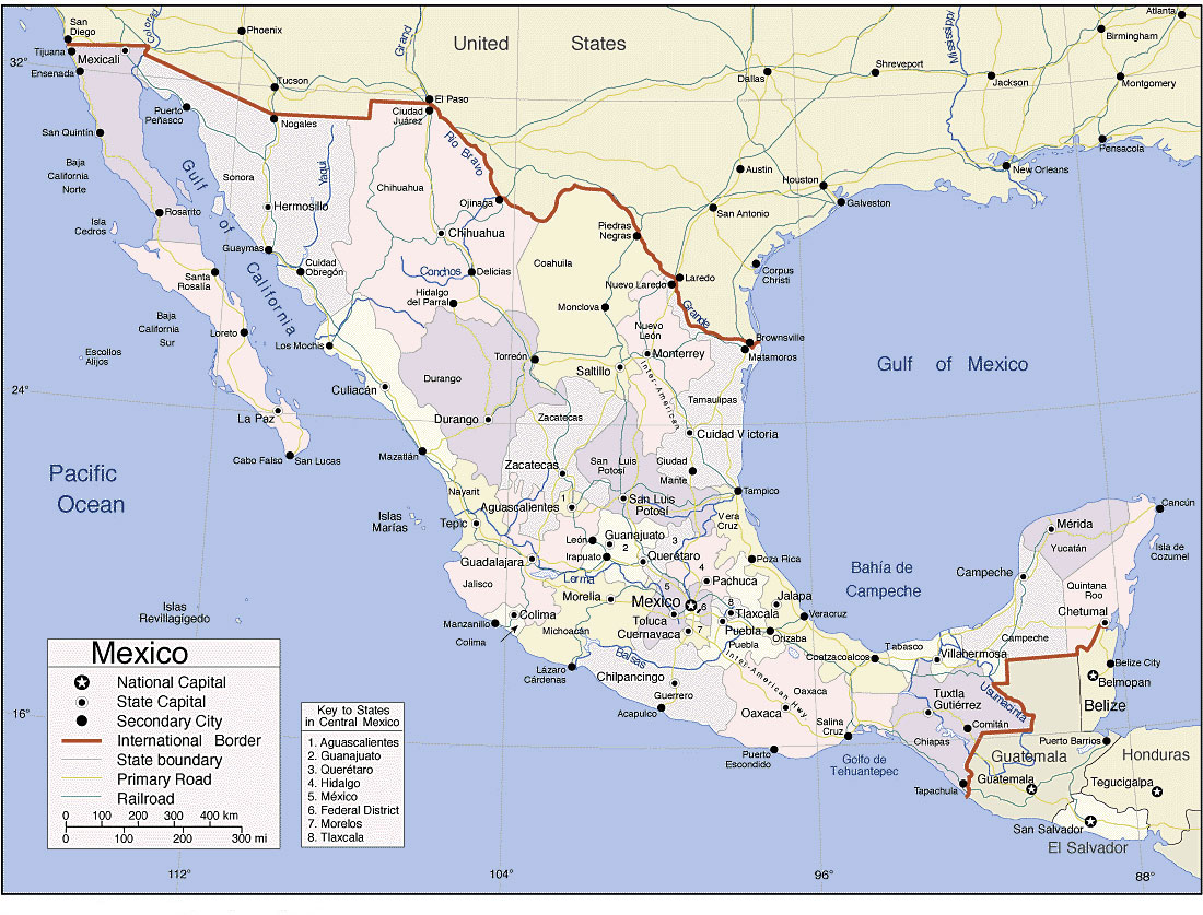 Mexico Map Erasing Borders - Map of southern us and mexico