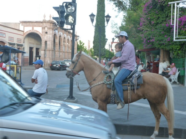 "The original ""Cowboy Culture"" lives in Jerez as seen on the central plaza"