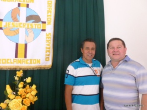 "Rev. Daniel Celis (r.) with Pastor Jose of Villas del Sol, one of Mazatlan's 3 ""mission"" churches"