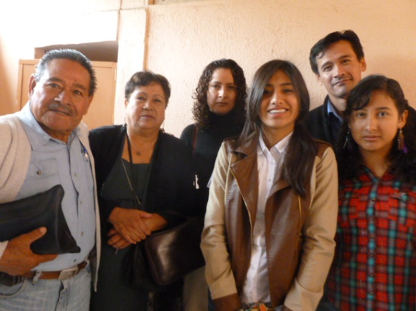 Jamie and Heidi join grandparents Natividad and Eva and mother and father for worship at Julien Carrillo