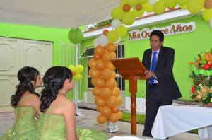 Pastor Rogelio speaks to the young women