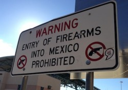 "Civilian possession of ""military grade firearms"", including automatic assault weapons, is also prohibited in Mexico."