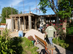Entry portico for the new sanctuary in July 2013