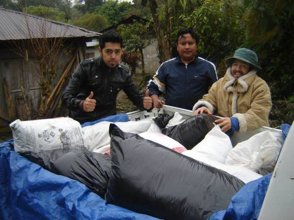 Mission Volunteers preparing the coffee purchased for the trip to the city