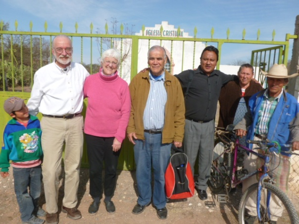 Language and Culture trainees on left with members and pastors of the rural La Reforma Disciples congregation