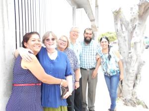 Elida, Jerri, Kate, Doug, Pastor Jairo Florez, Alejandrina
