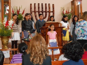 Youth choir from Julian Carrillo