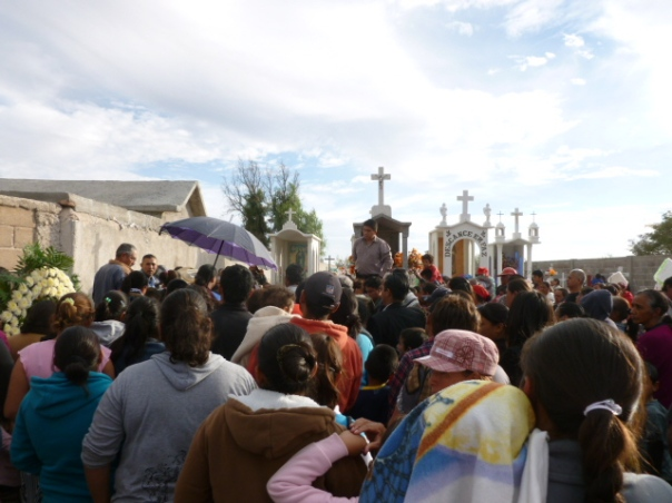 La Reforma villagers and companions on the AA journey made Jesús' funeral the largest rural farewell presiding pastor Josue Martinez Cisneros had ever attended