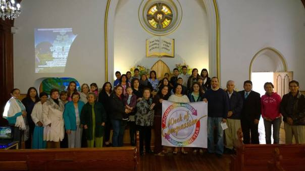 Central Christian Church in San Luis Potosí, México celebrates U.S. Disciples Week of Compassion relief and development fund/Honran Disciplus en San Luis Potosí el fondo humanitario de los Discipulos en los EEUA