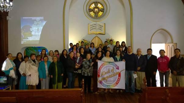 Central Christian Church in San Luis Potosí, México celebrates U.S. Disciples Week of Compassion relief and development fund/Honran Disciplus en San Luis Potosí el fondo humanitario de los Discipulos en los EEUA