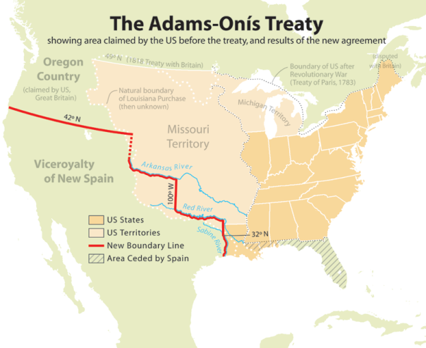 "U.S.-Mexico border to last ""forever"" by terms of the 1821 Adams-Onís Treaty"