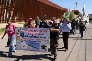 "The binational organization ""Dreamers'Moms"" marches at the Convergence in support of their children's dream of getting an education in the U.S."