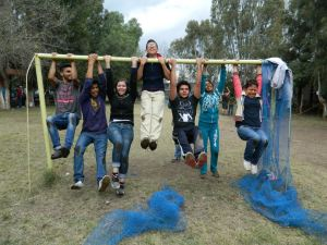 Youth at the annual Huentepec Camp held between Christmas and New Year's Day
